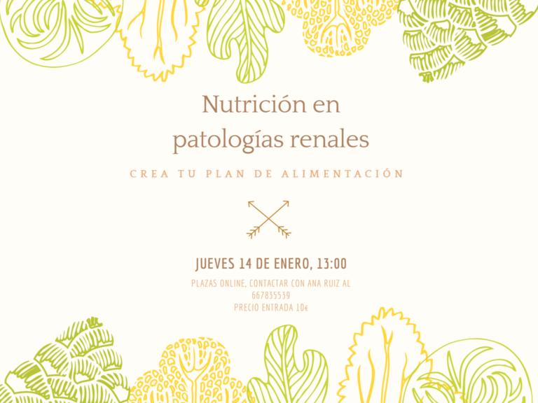 Nutrición en patologías renales